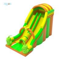 Nadmuchiwane BIGGORS Darmowa Wysyłka Drogą Morską Nowy Projekt Nadmuchiwane Zabawki Dla Dzieci Podwójne Lane Zjeżdżalnia