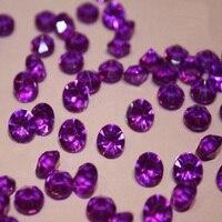 10000 unidades/pacote, Deep Purple 4.5 MM da Tabela Do Casamento de Diamante de Dispersão Cristais Confetti Gemas Casamento Decoração Favores
