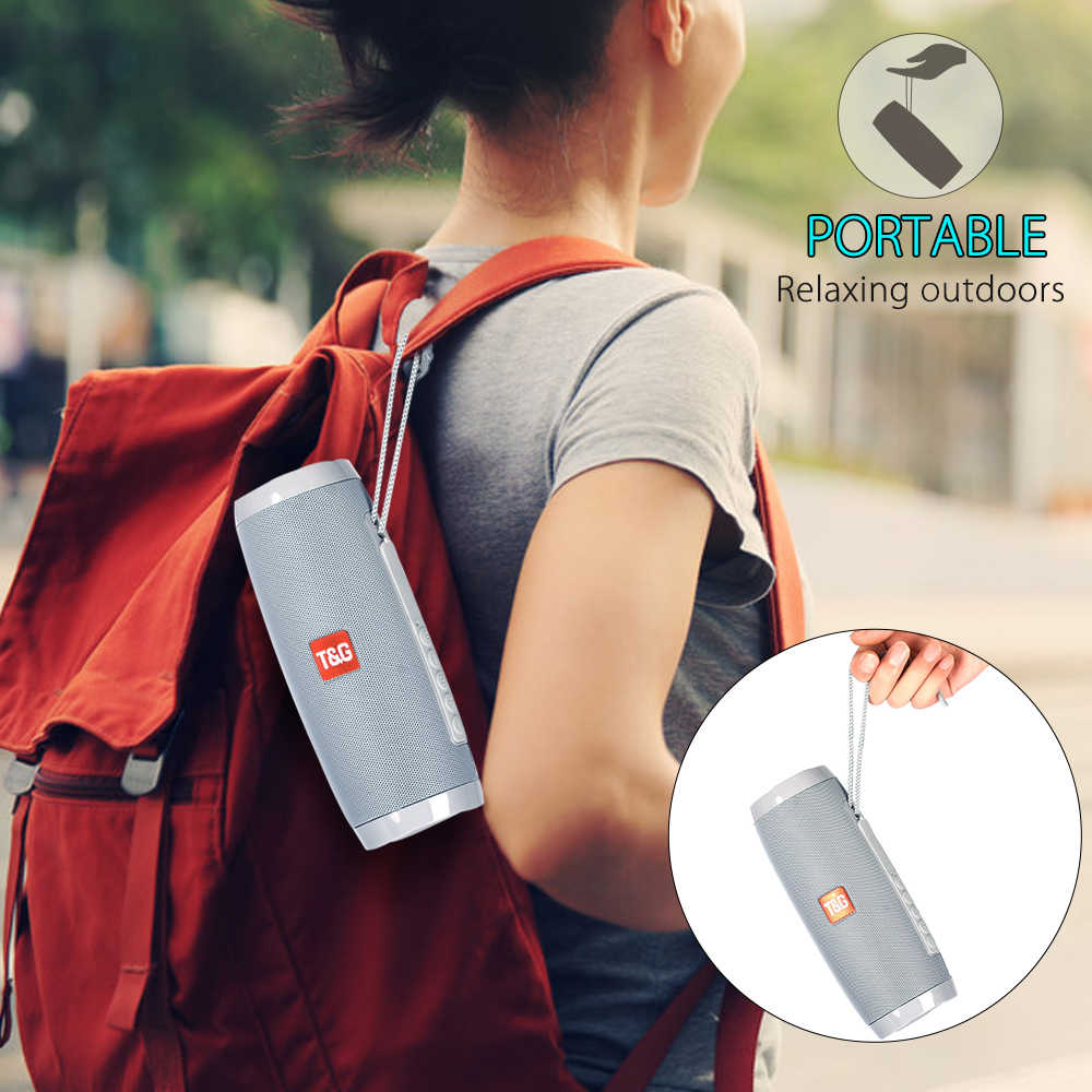 TOPROAD портативный Bluetooth динамик 10 Вт Беспроводная стерео Колонка сабвуфер светодиодный разноцветные динамики Поддержка TF карта FM радио USB AUX