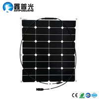 60W 19.4V Flexible Solar Panel Monocrystalline Silicon Solar Panels Solar Charger Battery for 12v Car Boat Yatch RV Camping Use