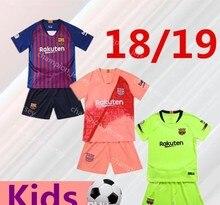 ab150baa8f Top 2018 MESZ INIESTE Dembele Camisa Crianças Camisas de futebol 2019 Barcelona  Messi INIESTA camisa de