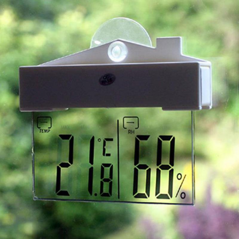 Numérique Fenêtre Thermomètre Hydromètre Intérieur Extérieur Météo Température Humidité