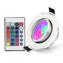LED Ceiling Lamp Down Lights 5W RGB With Remote Recessed light Bulbs Downlight Birthday party lights Lamps Color