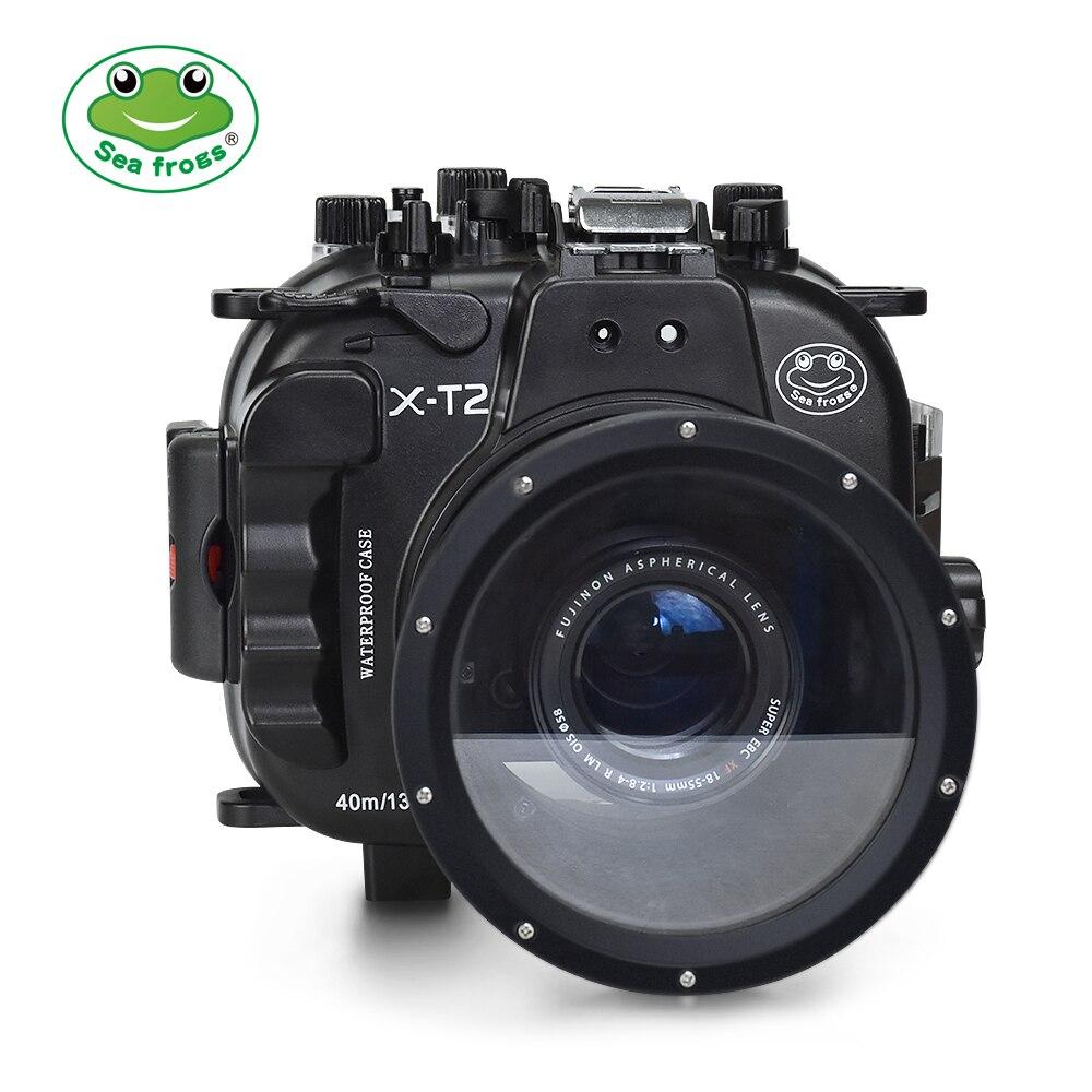 Para Fujifilm X-T2 18-55mm lente carcasa impermeable buceo submarino 40 m Shoot fácil enfoque de equipo libremente bolsa de caja