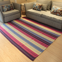 Hand woven living room carpet Tea Mat Carpet The bedside carpet is machine washable With the anti skid pad 150cm and 200cm fanhu