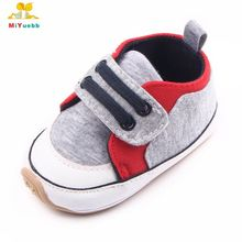 Spring and Autumn Hook&Loop Patchwork Design Rubber Sole Cool Baby Sports Shoes Baby Boys For 0-15M