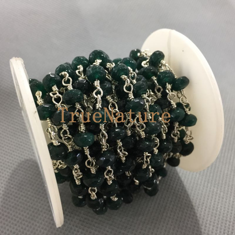 handmade strand plated supply craft gold one jade silver product chains beaded of