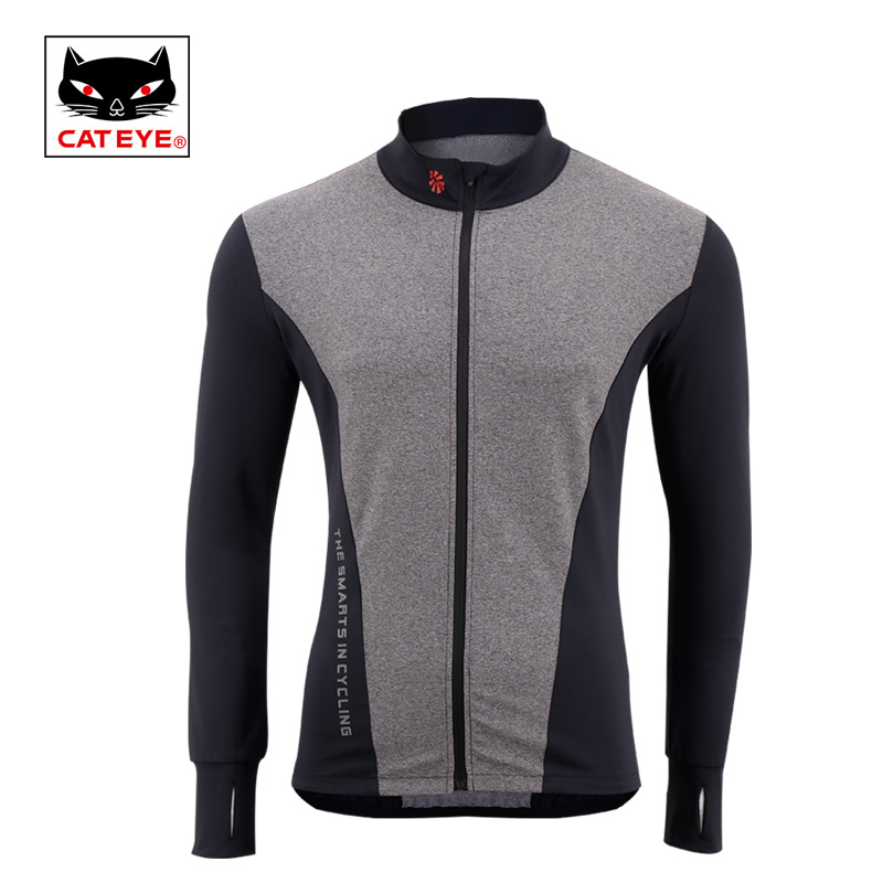 Cateye Cycling Jersey Breathable Zip Jackets Bicycle Sportswear Spring Summer Long Sleeve Bike Outdoor Sports Clothing Jersey wosawe men s long sleeve cycling jersey sets breathable gel padded mtb tights sportswear for all season cycling clothings