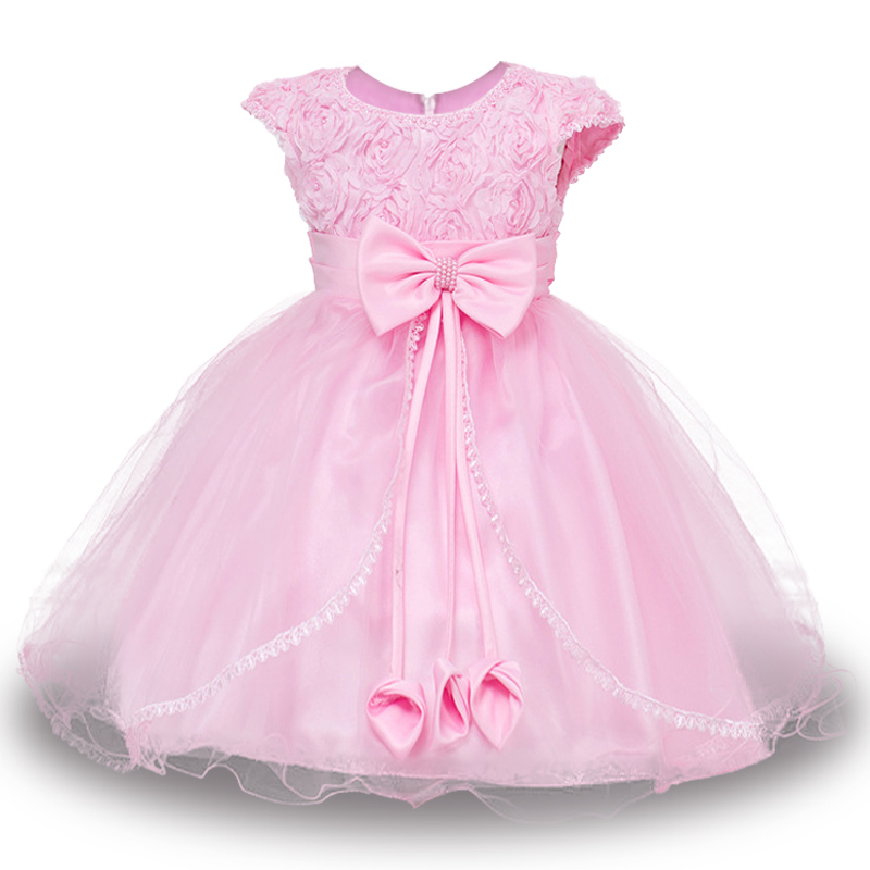 High quality Flowers Dress For Girls For Wedding and Party Summer Baby Clothes Princess Party Kids Dresses Girl Infant Costume kids girls dresses for party and wedding 2016 summer lace flowers princess dress for girls clothes vestido pink yellow green