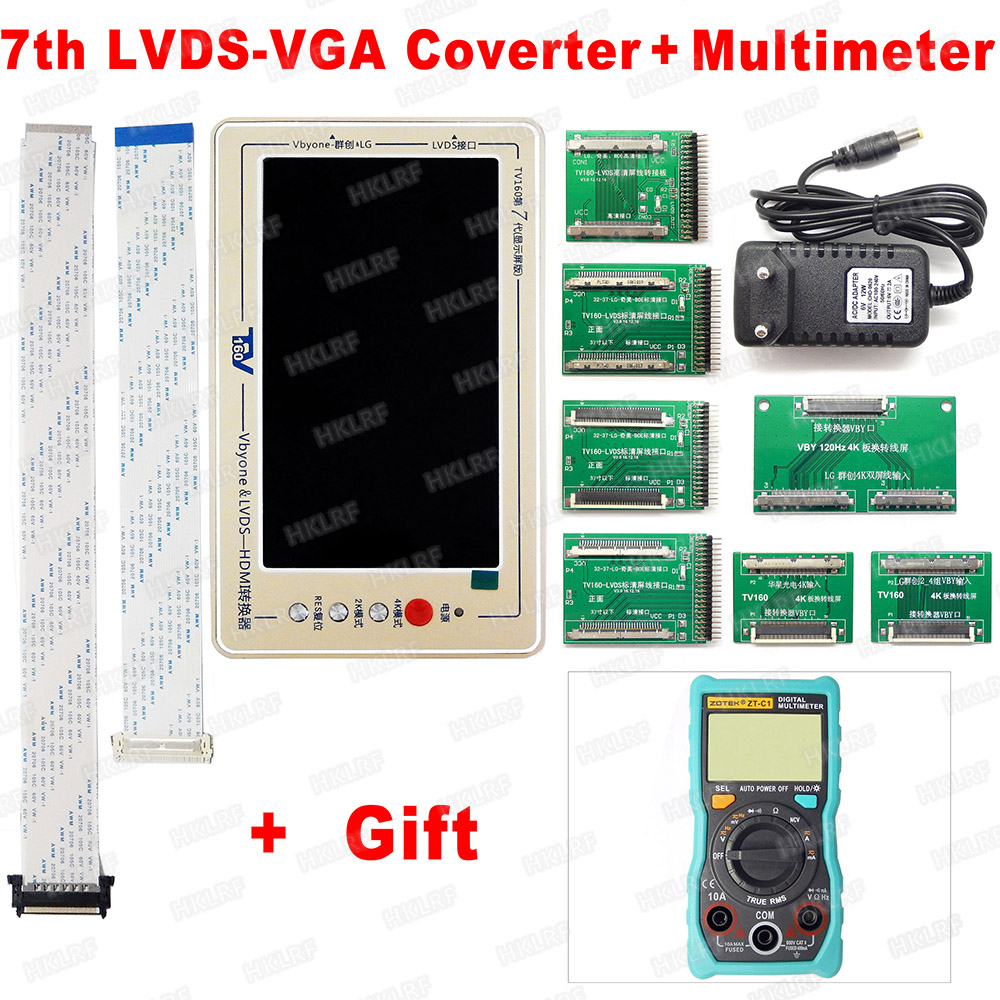 2019 Newest TV160 mainboard tester tools 7th generation Vbyone LVDS to HDMI Plus Gift Multimeter Free