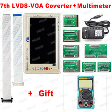 Herramientas de prueba de placa base TV160, 7ª generación, Vbyone y LVDS to HDMI Plus, multímetro de regalo, envío gratis
