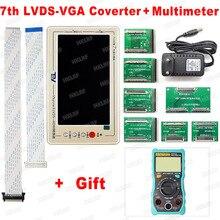 Nieuwste TV160 Moederbord Tester Gereedschap 7th Generatie Vbyone & Lvds Naar Hdmi Plus Gift Multimeter Gratis Verzending