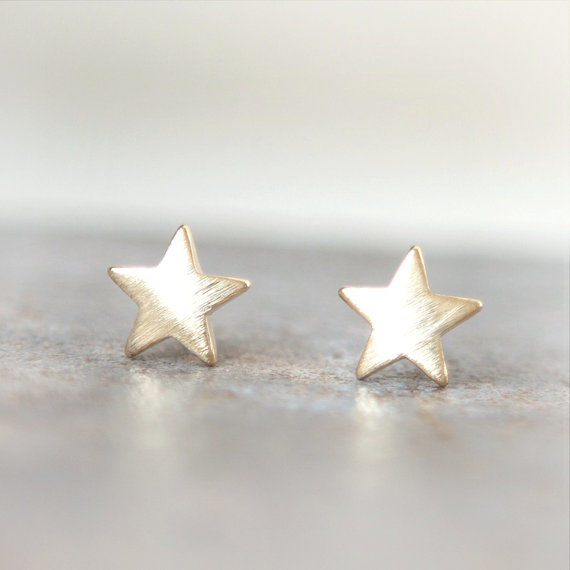 New Charm plated Silver Small cute Star Earrings for Women metal ear ring Hot Sale Statement Jewelry Girls Gift ...