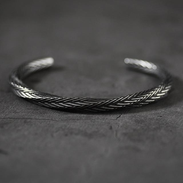 Bracelet nordique Viking motif torsadé 1