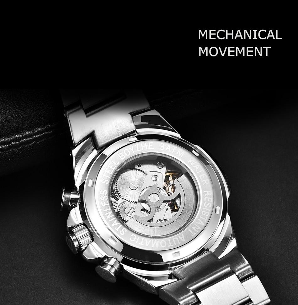 2019nova maneira automatische mechanische uhr moda casual