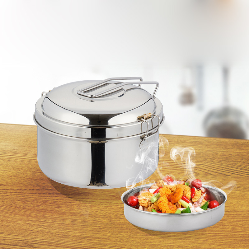 roundness stainless steel bento lunch box thick food. Black Bedroom Furniture Sets. Home Design Ideas