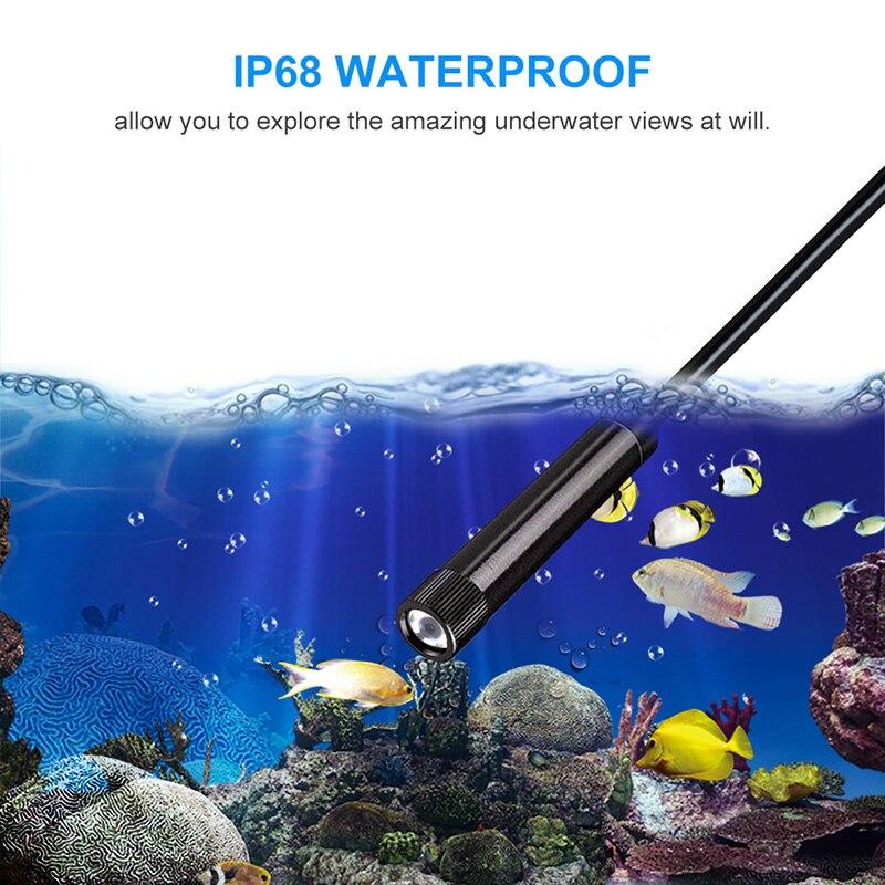 Image 5 - 5.5MM WiFi Borescope Inspection Camera 1920*1080P HD Semi rigid Wireless Endoscope Snake Camera for Android & IOS Ipad HuaweiSurveillance Cameras   -