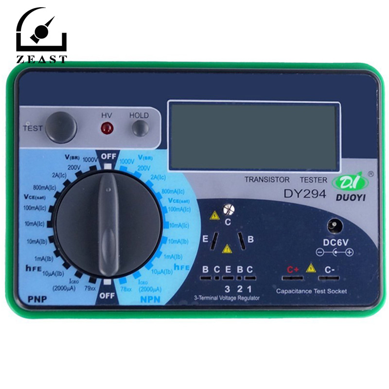 DY294 LCD Display Digital Transistor DC Parameter Tester Semiconductor Tester Semiconductor Testers Meter 1PCS dy294 lcd display digital transistor dc parameter tester semiconductor tester semiconductor testers meter 1pcs