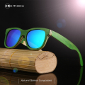 Pilot skateboard Wood Sunglasses Men Women Brand Designer Mirror Sun Glasses UV400 Driving Sports Original Bamboo Sunglases Male