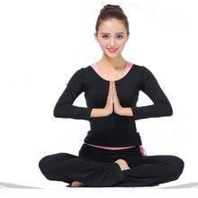 3 in 1 women yoga pants shirt bra suit long sleeve fitness dancing yoga trousers loose