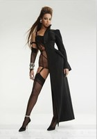 Star Costume Ds Costumes Black Bodysuit Long Cloak Beyonce Singer Costume Nightclub Outfits Rave Festival Clothing Black Outfit