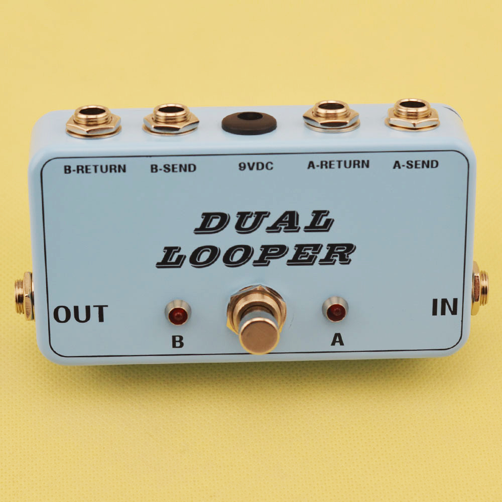 New True Bypass AB Looper Effect Pedal box GuitarSwitcher true bypass  guitar pedal Light blue dual Loop switch-in Guitar Parts & Accessories from  Sports ...