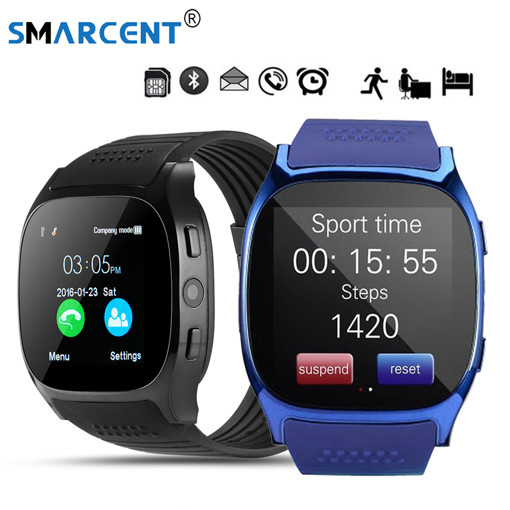 SMARCENT T8 Bluetooth Smart Watches With Camera Support SIM &TF Card Sync Call Message Men Women Smartwatch Watch Phone