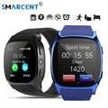 SMARCENT T8 relojes inteligentes Bluetooth con cámara SIM y tarjeta de TF de sincronización de mensaje de llamada de las mujeres de los hombres reloj inteligente del teléfono del reloj