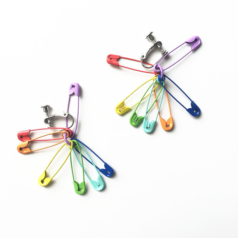 Rainbow Pins Earrings 3