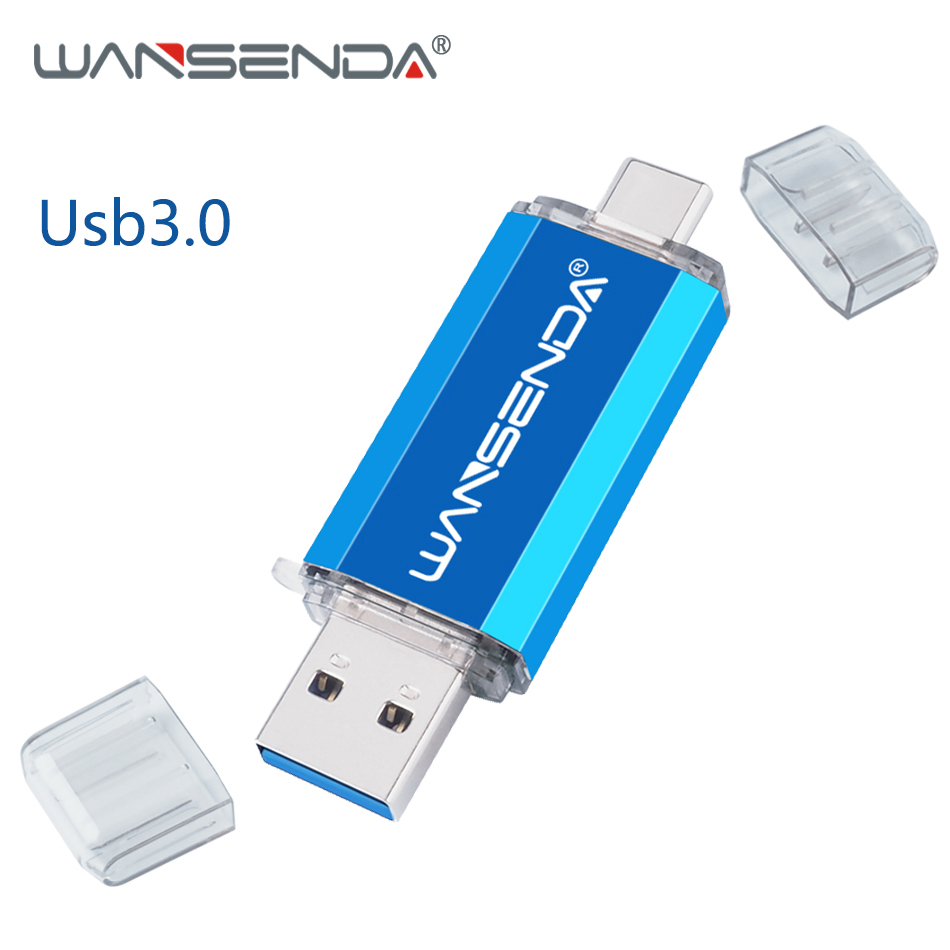 New Usb 30 Type C OTG Pen Drive Usb Flash Drive 128GB Dual Plug USB Stick 64GB 32GB 16GB Usb Flash Disk High Speed Pendrive