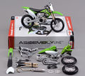 Collectible Diecast Model 1/12 Scale kawasaki KX450F Diy Assembly Motorcycle Kit In Stock Kids Toys Collections Gifts