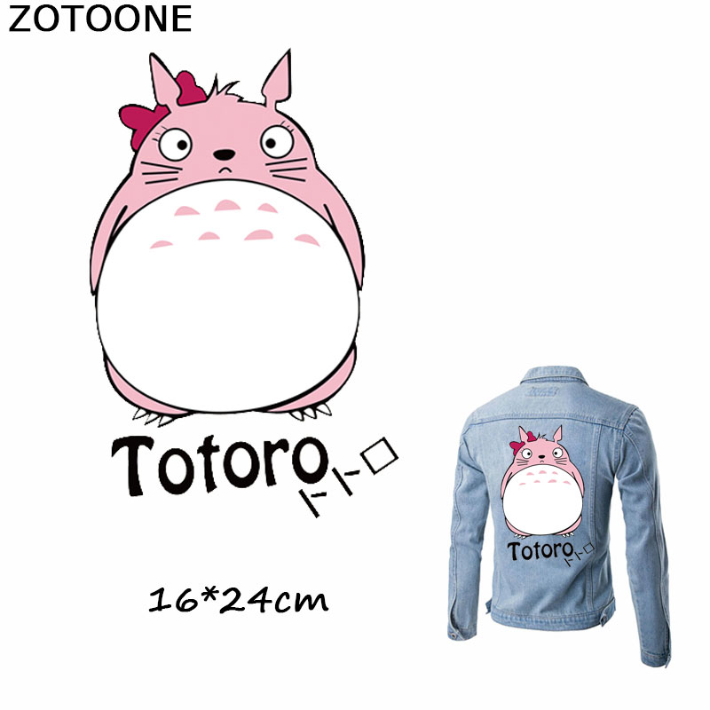 ZOTOONE Lovely Cartoon Cat Patch Iron on Transfers Sticker for Clothes Diy T-shirt Dresses Girl Patches Clothing Applique E