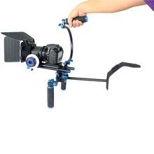 4in1 DSLR Rig Set Movie Kit Filming System Handheld Shoulder Mount Follow Focus Matte Box for