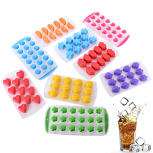 Herramientas de cocina de moda Labios Heart Freeze Mold 11Shapes Silicona Chocolate Mould Ice Cube Durable Apple Banana