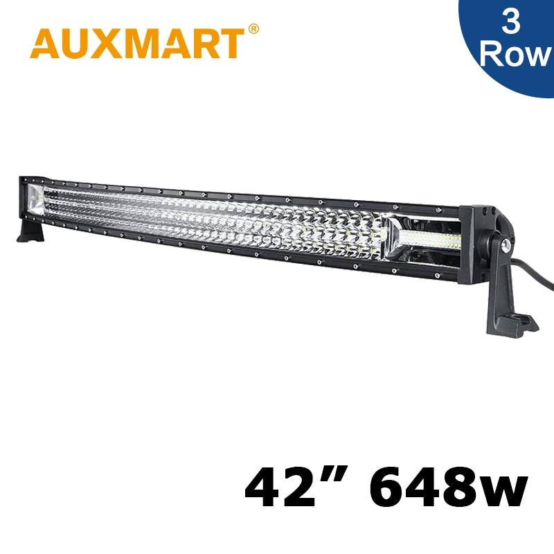 Auxmart 42 inch Curved LED Light Bar 3 Row 42