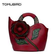TOMUBIRD 2017 New luxury handbags women bags designer Three-dimensional flower genuine leather women handbags shoulder bag