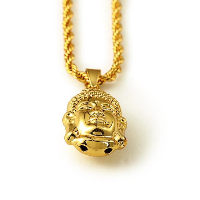 Online shop high quality bling charm chain pendants fashion buddha high quality bling charm chain pendants fashion buddha statues long necklaces men women god bless buddhism faith aloadofball Gallery