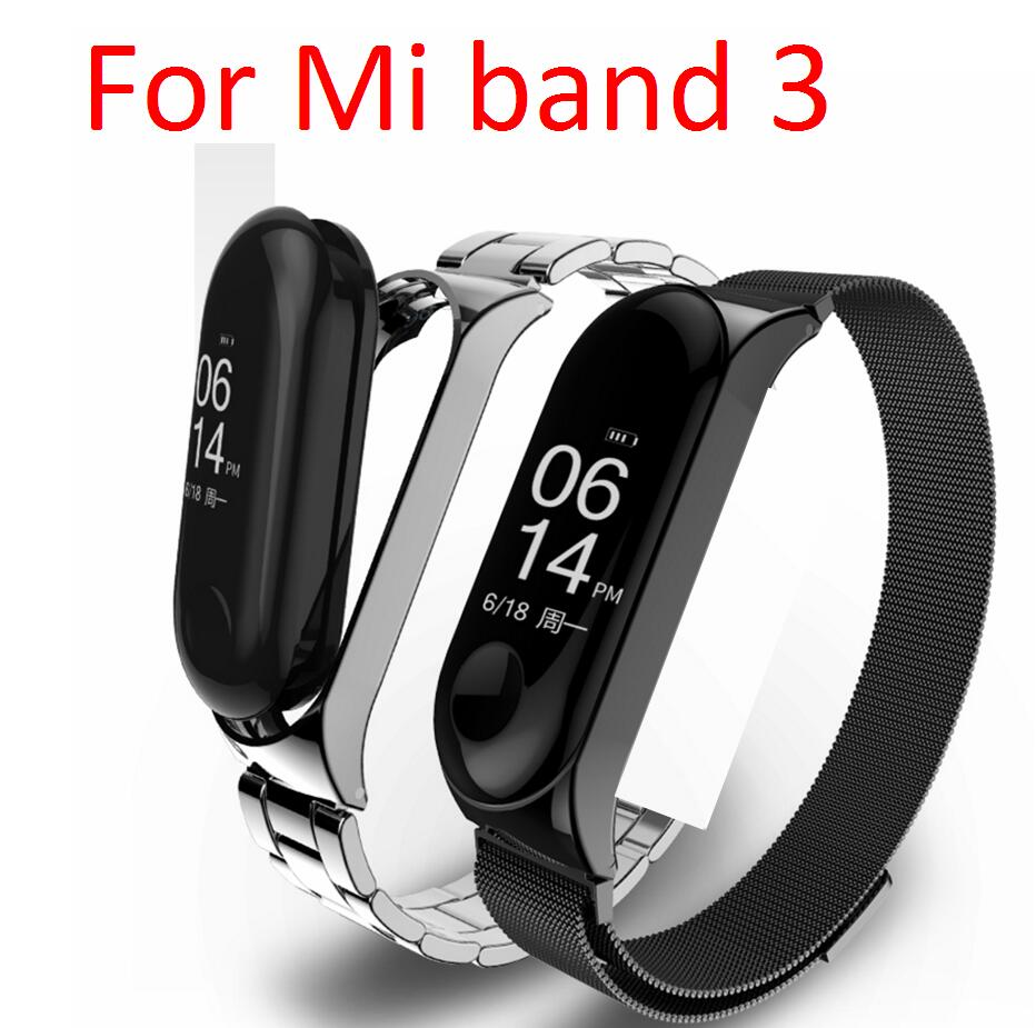 Mi band 3 Bracelet Strap correa Metal case Xiaomi Mi Band 3 Wrist band belt smart gift stainless steel silver rose gold 2 model image