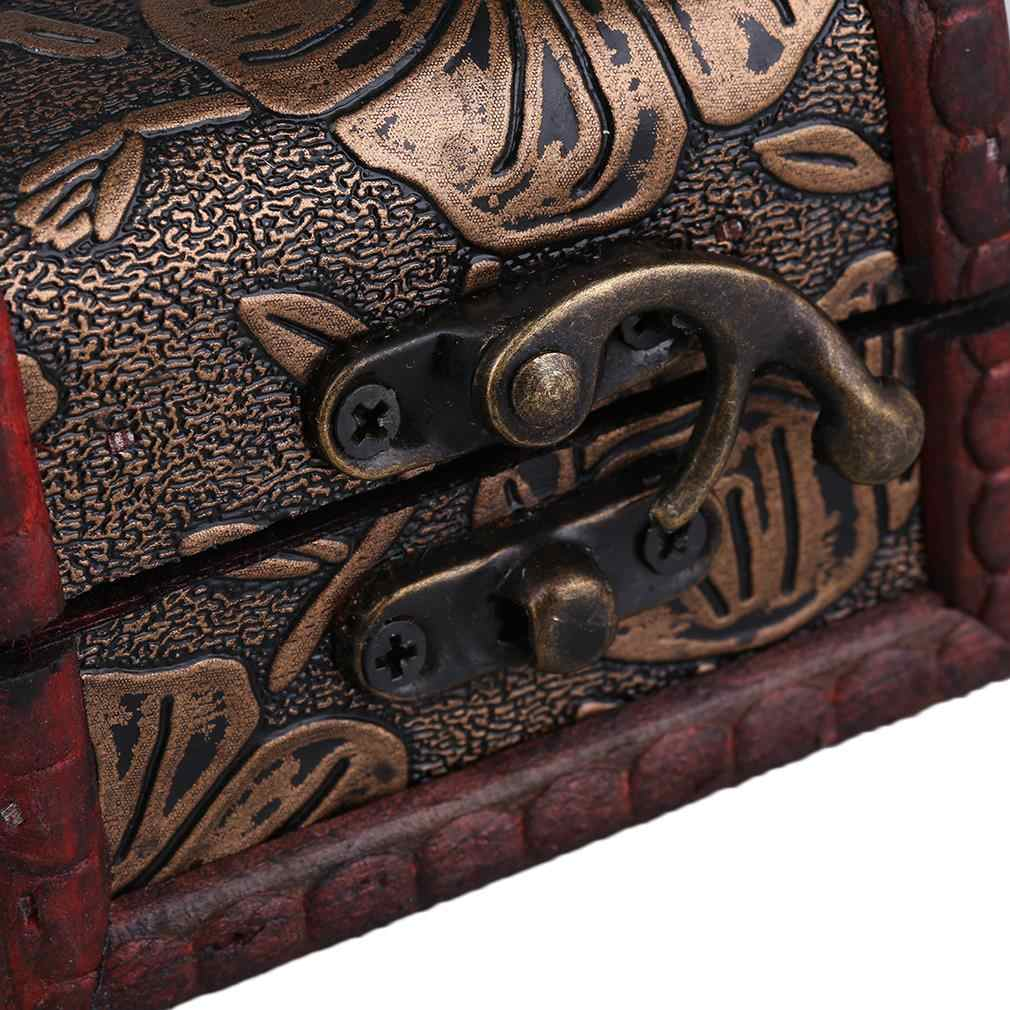 Ретро деревянный дисплей часов коробка ювелирных изделий ожерелье футляр для хранения колец Органайзер случайный узор доставлен Cajas Para Relojes