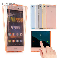 360 Full Cover Silicone Case for Huawei P8 P9 P10 P20 Lite Plus 2015 2016 2017 Honor 8 Lite Mate 20 Lite 10 Pro GR3 Nova 2i(China)