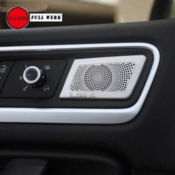 Комплект из 4 шт., аудиоколонка SS для салона автомобиля, обшивки двери, Громкая крышка динамика для VW Touareg 2011-2018, аксессуары для мышки для сало...