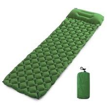 Inflatable Beach Mat Air Mattress Picnic Mattress With Pillow Sleeping Bag Cushion Air Sofas Inflatable Sleeping Pad Camping Mat цена 2017