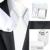 B-341 Lazo Para Hombre Blanco Sólido de Seda Jacquard Corbata Hanky Gemelos Sistemas Del Bolso Para Los Hombres de Negocios Del Banquete de Boda Caja de regalo suministros