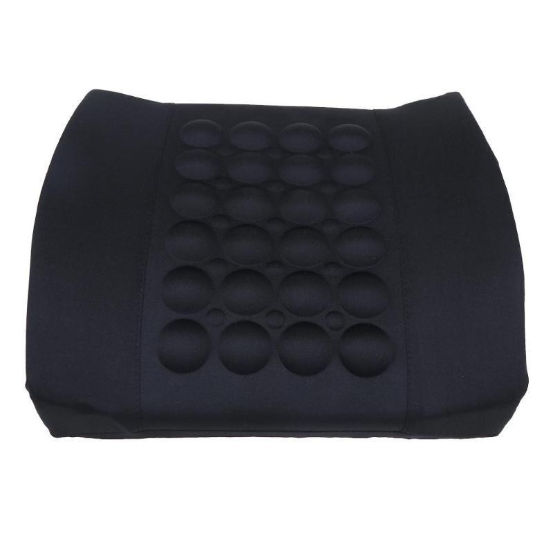 1 PC Unid almohada de apoyo Lumbar de coche 12 V masaje eléctrico Lumbar almohada asiento de coche relajación de la cintura apoyo cojín almohada promoción