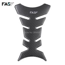 Alta qualidade FASP adesivos do tanque de combustível da motocicleta pad 5D decalques de fibra de carbono à prova d' água Anti-sol brilhar resistente Frio longo vida