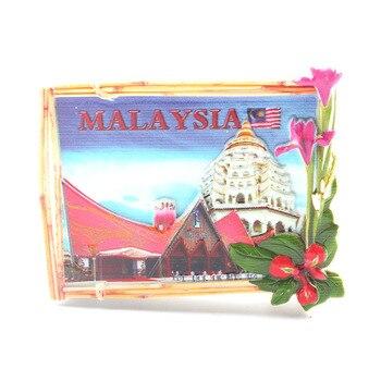 Gran oferta Malasia imanes 3D para nevera recuerdos de viaje nevera pegatinas magnéticas decoración del hogar