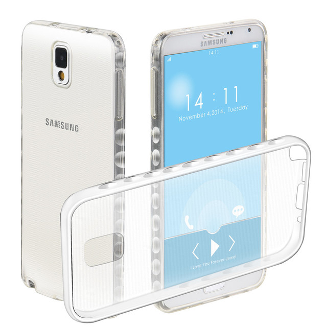 Non-slip Cases For Samsung Galaxy Note 3 LTE SM-N900U SM-N9005 Note3 N9002 SM-N9008V Transparent TPU Silicon Covers Full Housing