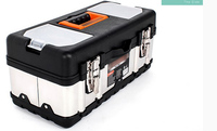 Large Stainless Steel Toolbox Household Maintenance Electrician Tool Box Z0103