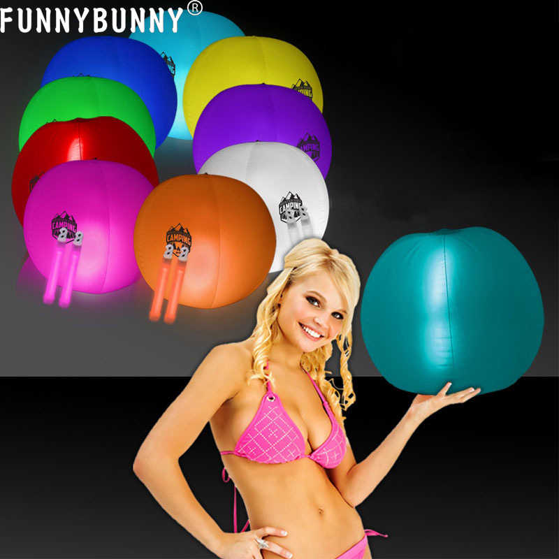 FUNNYBUNNY Fluorescent Ball Luminous Ball Luminous Beach Ball Children's Toys Festival Atmosphere Supplies Light Stick Ball