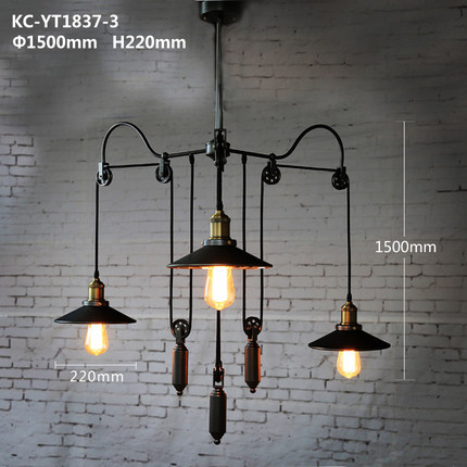 Nordic Pastoral Style Loft Lamp Wrought Iron Scaling Industrial Style Pendant Lighting 3 Lamp Cafe Art Deco Lighting Edison lamp loft industrial rust ceramics hanging lamp vintage pendant lamp cafe bar edison retro iron lighting